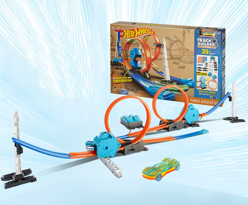 Hot-Wheels-Roundabout-Track-Toys-Model-Cars-Classic-Power-Booster-Kit-Toy-Car-Birthday-Gift-For