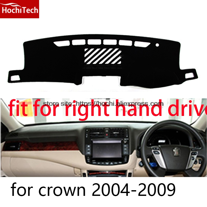 For toyota crown right hand drive dashboard mat Protective pad black car-styling Interior Refit Sticker Mat products for toyota prius 2012 2013 right hand drive dashboard mat protective pad black car styling interior refit sticker mat products