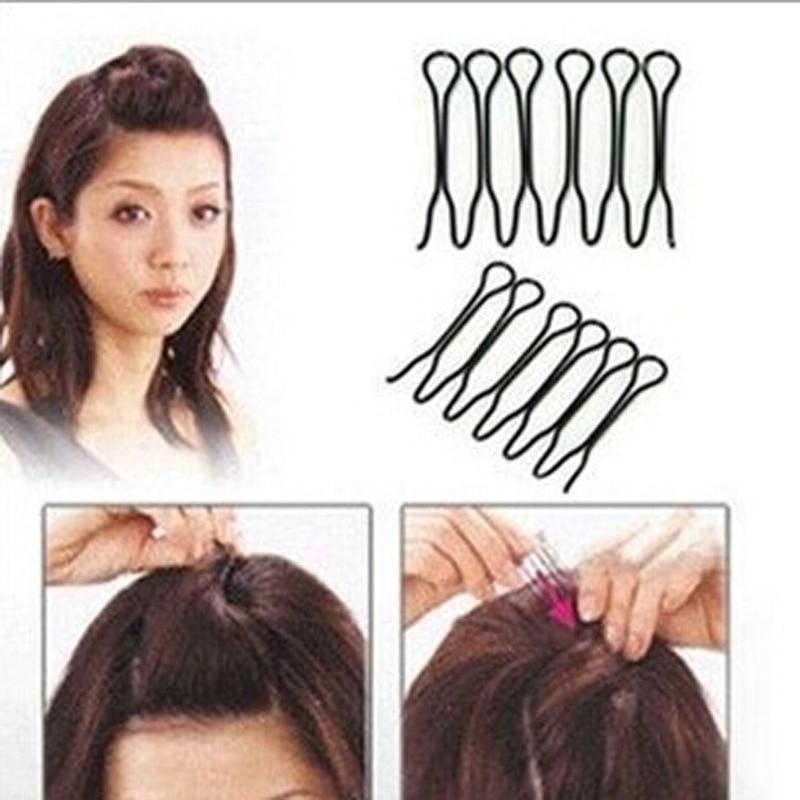 Женские невидимые заколки для волос, 2 шт., аксессуары для волос, заколки для волос, черные заколки для волос, украшения для волос, заколки для...