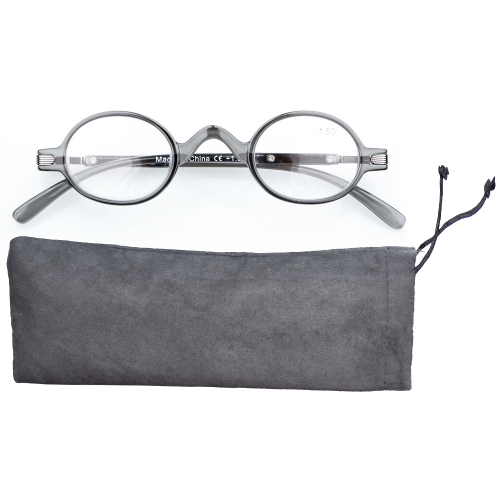 R077 Eyekepper Readers Spring Temple Vintage Mini Small Oval Round Reading Glasses & Reading Sunglasses +0.00--+4.00