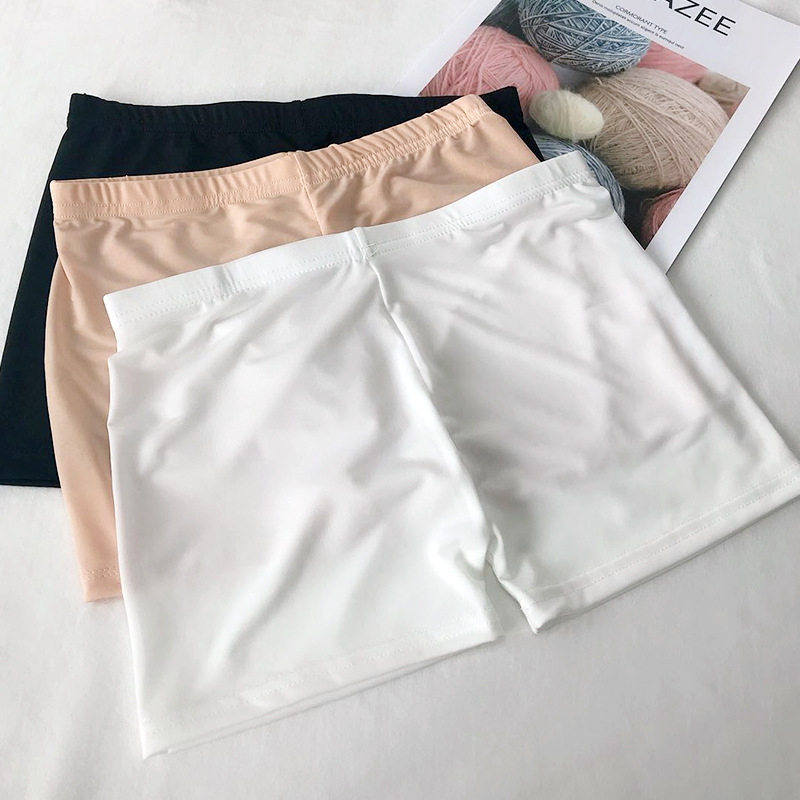Women Soft Seamless Shorts Summer Under Skirt Shorts Ice Silk Breathable Short Comfortable Shorts