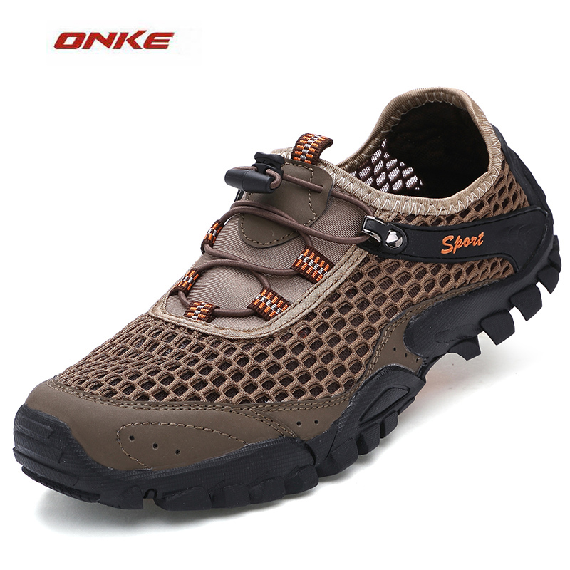 New Men's Shoes Outdoor Sports Walking Beach  River Wading Fishing Shoes Breathable Quick-drying Anti-skid Mesh Hole Shoes merrto 2016 new brand women beach water aqua shoes upstream fishing wading shoes water breathable sneakers 18376 1