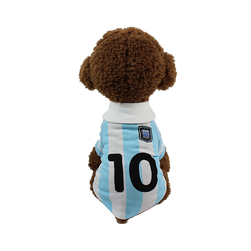 6 Style T Shirt Dog For Summer Season Polyester Honeycomb Russia World Cup Vest For Dog Apparel Puppy Pets Size XS S M L BFL006