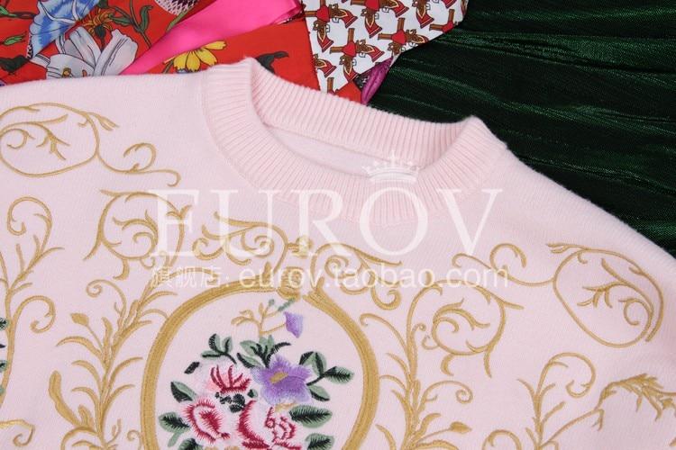 Rose Pulls O Automne Femmale De cou Longues Nouvelles Top Manches À Mode Broderie Fleur Tricoter La Chandail Main 2018 Femmes TqpZSZ
