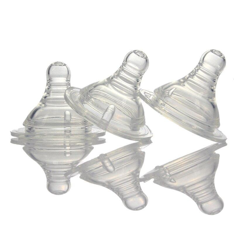 Applebear широкой диафрагмой новорожденного соску мягкой Еда Класс силиконовые кормления соска груди чувствовать жидкости силиконовые соски 3 ...