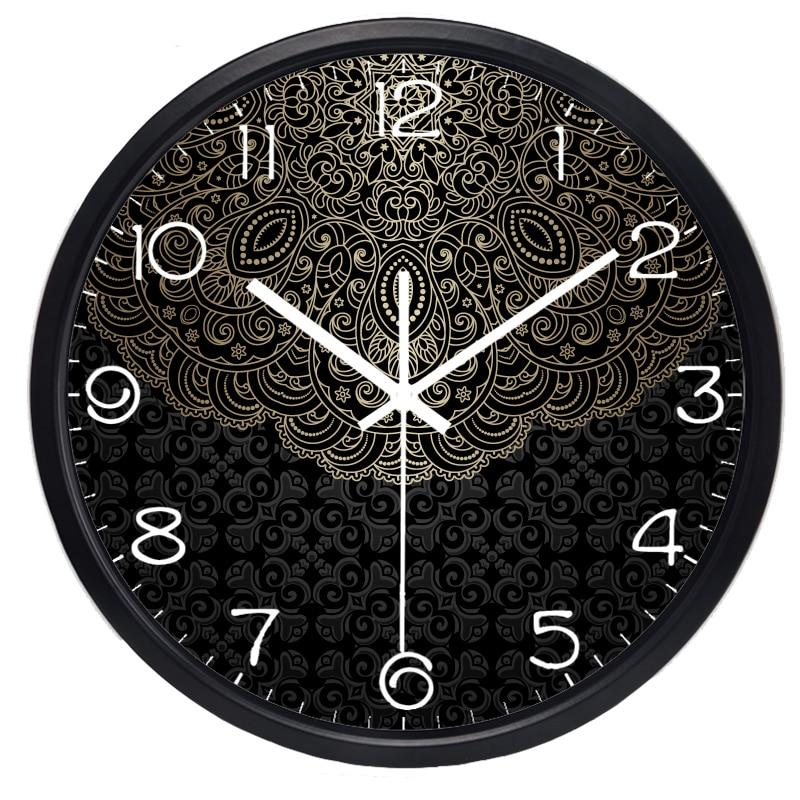 China Lotus Totem Creative Wall Clock Lucky Cloud Clock