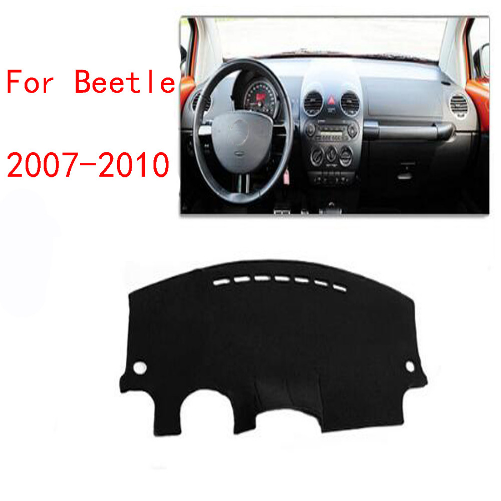 Dongzhen For VW Beetle 2007 to 2010 Car Dashboard Cover Mat Avoid Light Pad Instrument Platform Desk Cover Mats Carpets