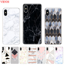 Marble Grain Simplicity Phone Back Case For iPhone 6 6S 7 8 Plus X 10 XS MAX XR 5 5S SE Gift Customized Art Cover Coque Cases