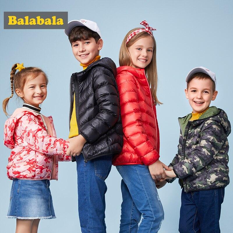 Balabala/Детский комбинезон с капюшоном для мальчиков и девочек, зима 90%, пуховик, теплое Детское пальто, детский зимний комбинезон, зимняя одежд...
