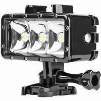 SHOOT 40m 300LM Underwater Waterproof 3LED Diving Fill Light Flashlight for Gopro Hero 7 6 5 Action Video Cameras Accessories