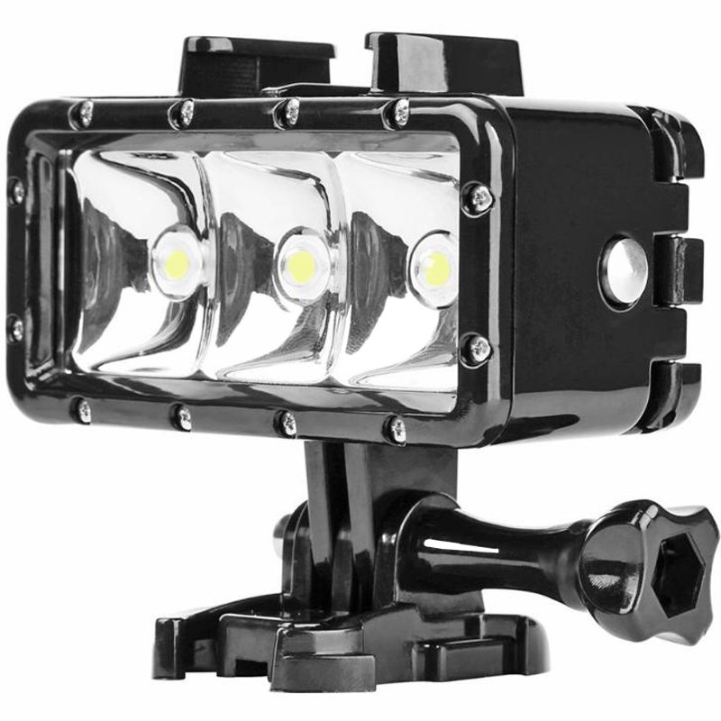 SHOOT 40m Waterproof 3LED Diving Fill Light 300LM Underwater Flashlight for Gopro Hero 7 6 5 Action Video Cameras Accessories