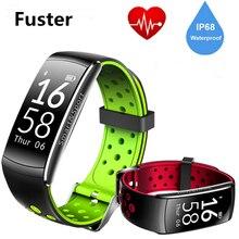 Фустер Фитнес трекер Q8 умный браслет зеленый свет Heart Rate Сенсор вызова и SMS Bluetooth вибрации напоминание группы