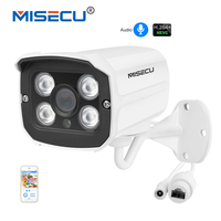 MISECU H 264 Audio Sound Record IP Camera Waterproof Metal 2 0MP 1920 1080P Full HD