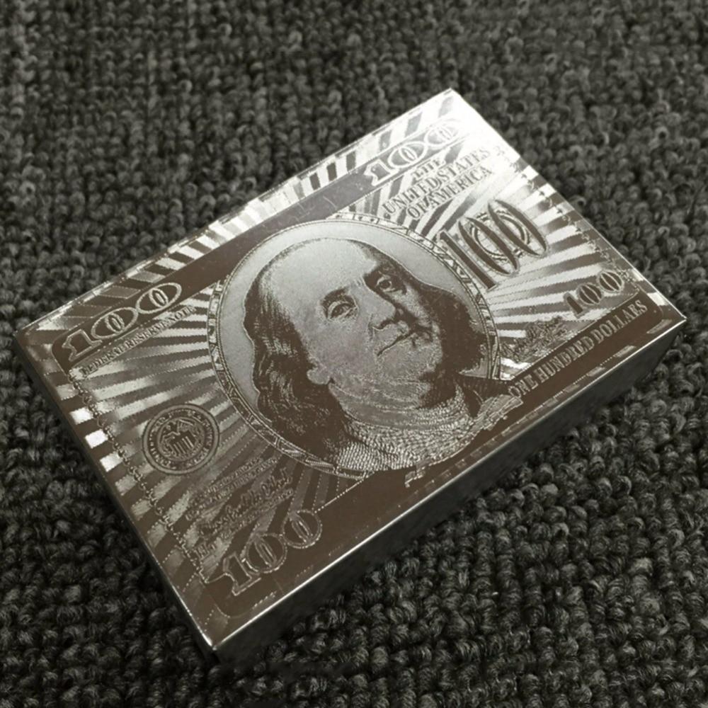 HOT Super 24K Gold  Foil Poker Ornate Lattice Grid Waterproof Playing Cards