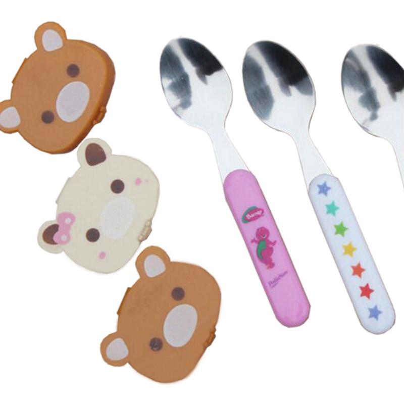בייבי ילדים חמוד קריקטורה טעם חבילת כלי שולחן PP חומר בריאות דובי יפה
