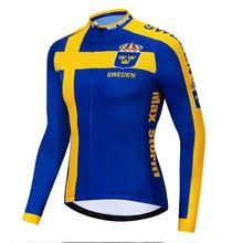 2019 Sweden new team cycling jersey winter long sleeve Winter Fleece&no Fleece clothing Reflective zipper 4 pocket