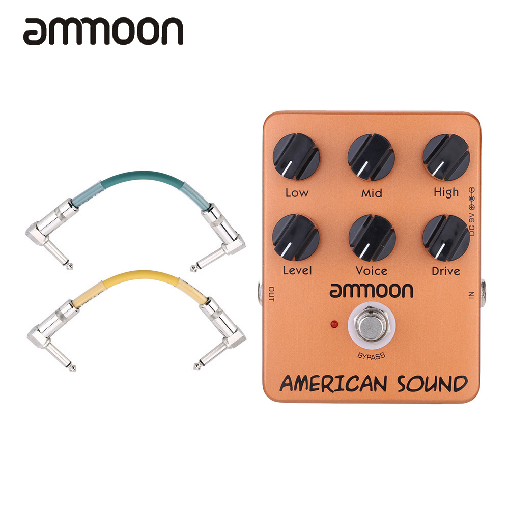 ammoon guitar pedal american sound amp simulator guitar effect pedal true bypass with 2pcs pedal. Black Bedroom Furniture Sets. Home Design Ideas