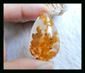 Natural Stone Water Drop Rare Agate Jewelry Cabochon,36*22*4mm 9.4g natural agate cabochon jewelry accessories