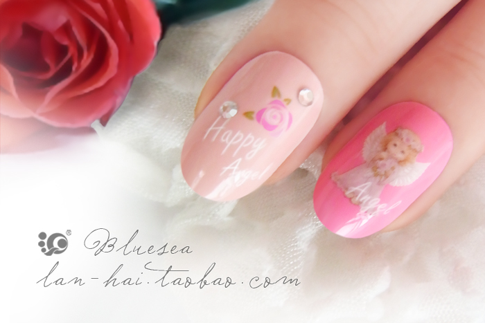 Bluesea Nail Art Little Angel Nail Sticker K202 In Stickers Decals