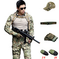 Military CPU Uniforms Combat Tactical Army Hunting Camouflage Uniforme Miliatr CS Tatico Shirt Pants With Knee Pads Ghillie Suit