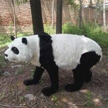 Simulation panda polyethylene&furs panda model funny gift about 100cmx55cm