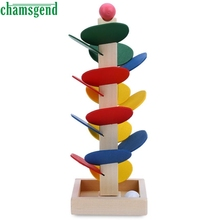 Ball Run Track Game Toy Wooden Puzzles DIY Mini Tree Baby Kids Education Puzzles Fun Kids