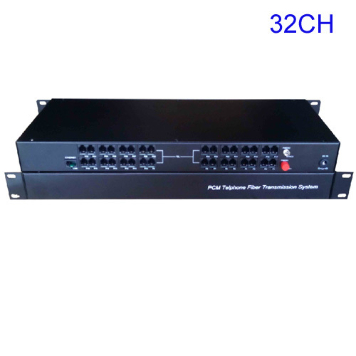 32 Channel PCM Voice Telephone fiber optical media converter with Ethernet Rack mountable -FC,High quality