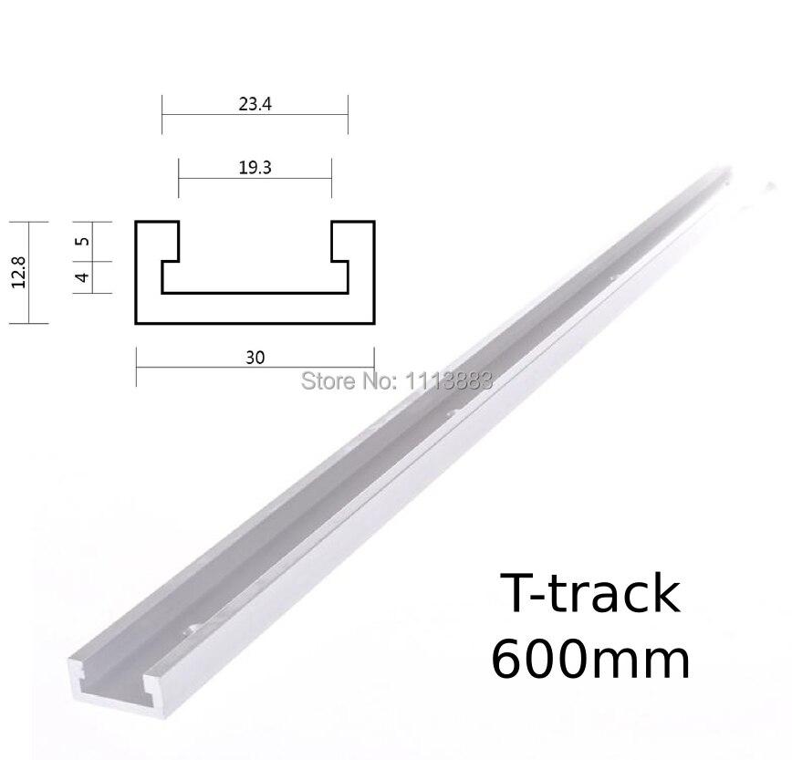 New 600mm 24inch Standard T Track Aluminium Miter Track