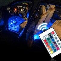 1Set Interior Car LED Neon Lamp For Honda Civic Accord Crv Fit Renault Megane Logan Laguna