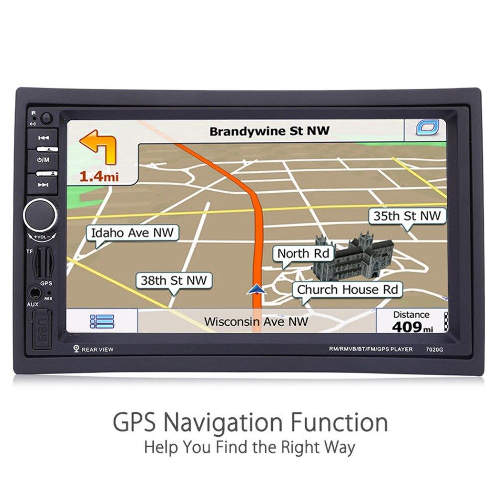 7020G 2 Din lecteur multimédia Auto voiture Navigation GPS 7 ''HD écran tactile MP3 MP5 Audio stéréo Radio Bluetooth FM USB