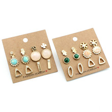 Boho Stud Earrings 6 pairs Set