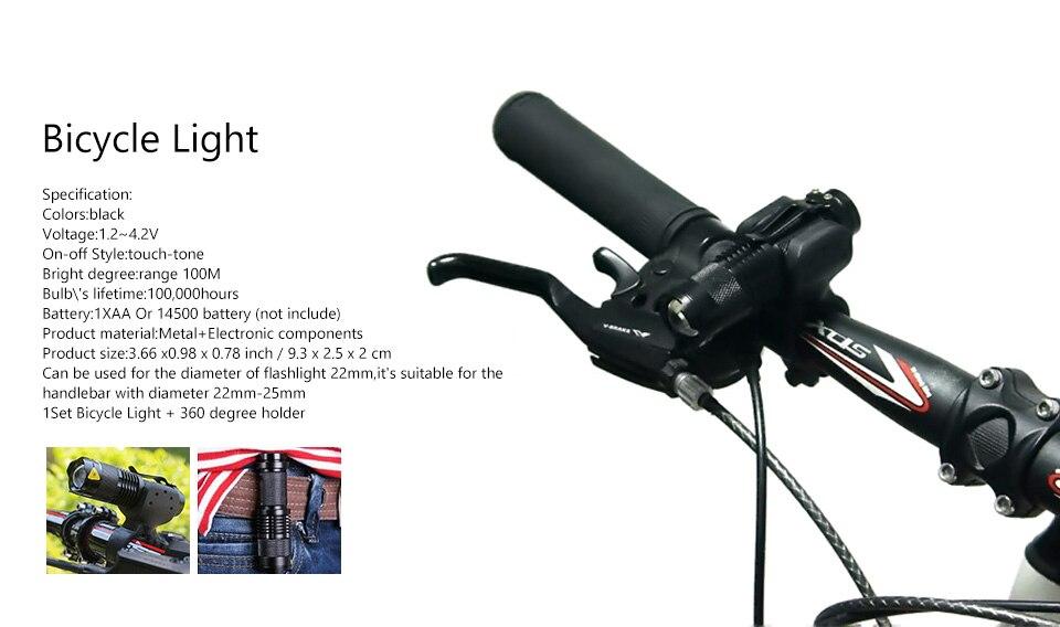 Bicycle Light 7 Watt 2000 Lumens 3 Mode Bike Q5 LED cycling Front Light Bike lights Lamp Torch Waterproof ZOOM flashlight BL0502 2