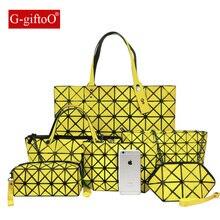 Фотография Bao Bao Laser Bag Luxury Handbags Women Bags Designer Bolsas Victor Hugo Obag Kors Handbags BaoBao Crossbody Bag Set