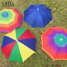 YADA 8 Bone 50 CM Fishing Cap Umbrella Rain Women uv Sunny And Rainy Umbrella For Womens Windproof Head Umbrellas Caps YS0018