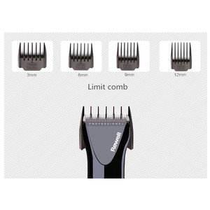 Image 5 - professional hair clipper rechargeable trimmer lithium battery Titanium alloy blade cutter adjustable comb Fine tuning 100 240V