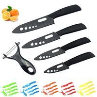 Ceramic Knives Set Knives Cook Set Cook Ceramic Black Blade Paring Red Flower Fruit Vegetable Peelers