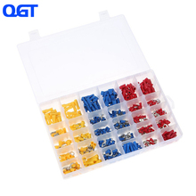 480PCS Mixed Assorted Lug Kit Crimp Connectors Insulated Electrical Crimp Terminals with 30 Sizes Electrical Wire Connector Set
