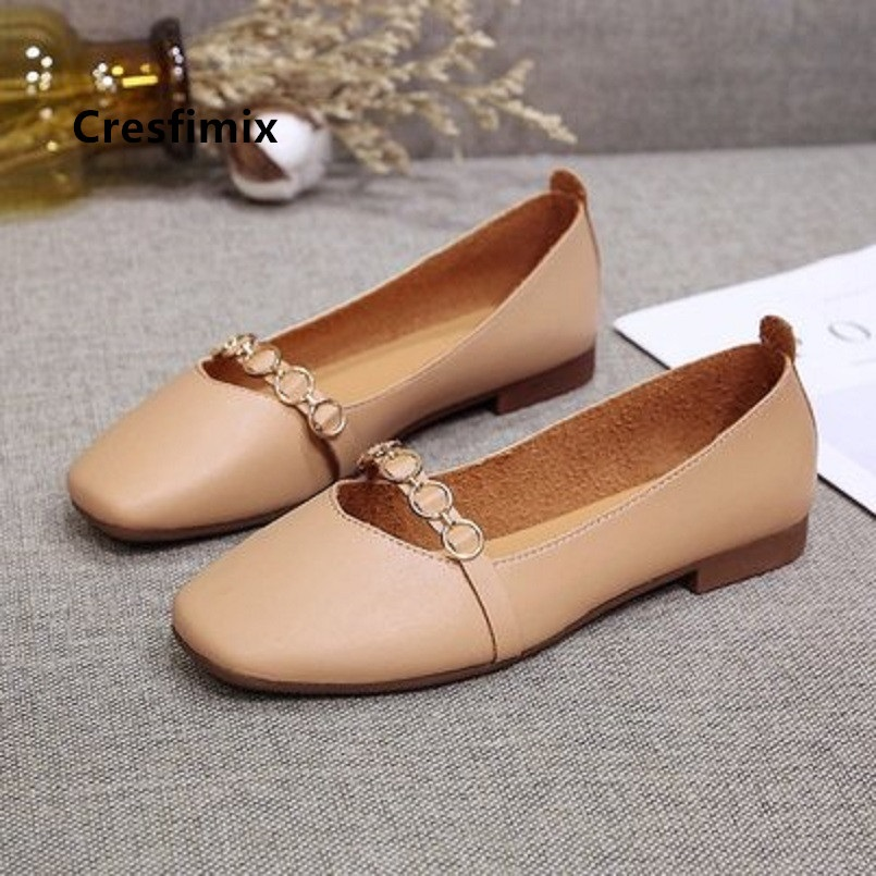 Cresfimix women cute light weight brown slip on loafers lady casual spring flat shoes summer flat shoes zapatos de mujer a5269Cresfimix women cute light weight brown slip on loafers lady casual spring flat shoes summer flat shoes zapatos de mujer a5269