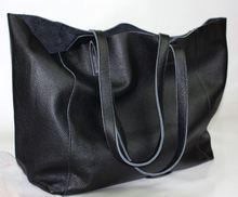 New fashion brief fashionable casual black shoulder bag women big bag real skin bolsos women s