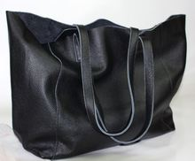 New fashion brief fashionable casual black shoulder bag women big bag real skin bolsos women's soft cow leather handbag