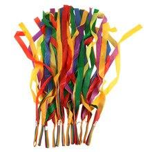12PCS/pack Art Gymnastic Dance Ribbon Gym Rhythmic Ballet Streamer Exercises Ribbons Fitness Rainbow Color For Girls C klaus bruengel ballet music for exercises 1