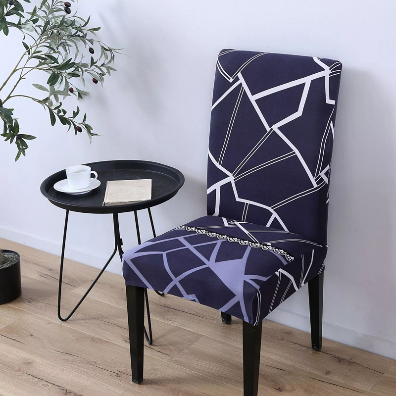 Modern-style Print Chair Covers Universal Spandex Seat Covers Home Hotel Dining Room Chairs Covering Single Slipcover Coprisedie