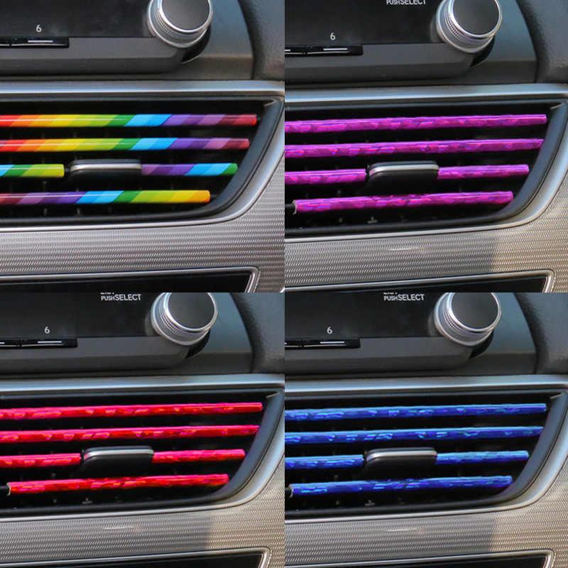 10 Uds. Decoración para salida de aire de coche tira para Mitsubishi Lancer 10 ASX Pajero X Ford Focus 2 3 Fiesta Citroen C4 C5 C3 cubiertas