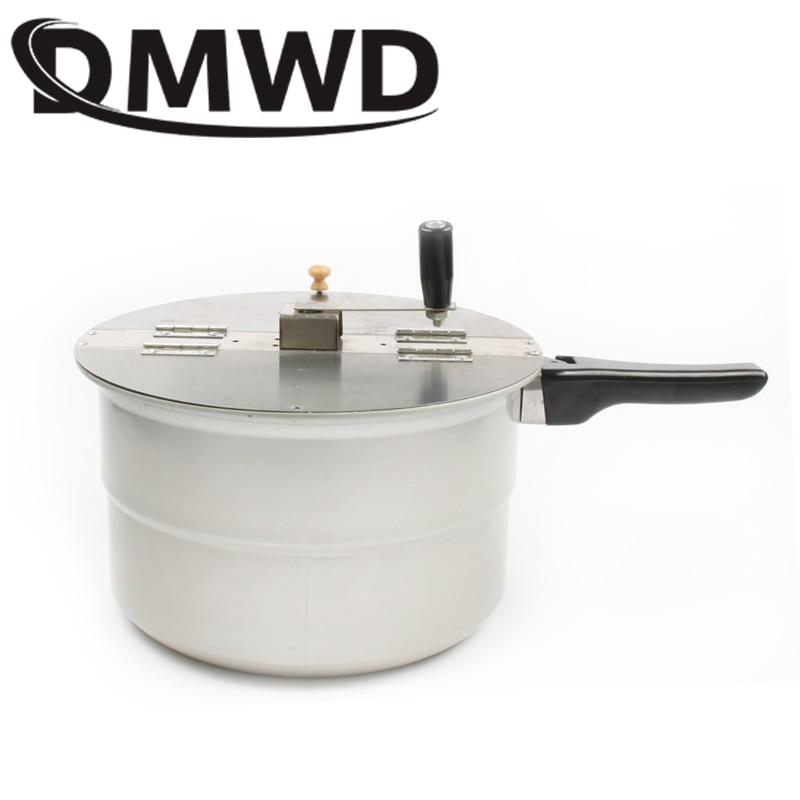 JIQI Gas Stove Hot Air Popcorn Machine Hand-cranked Single Pot Popcorn Maker Pot Commercial Home Use Manual Corn Pressure Cooker
