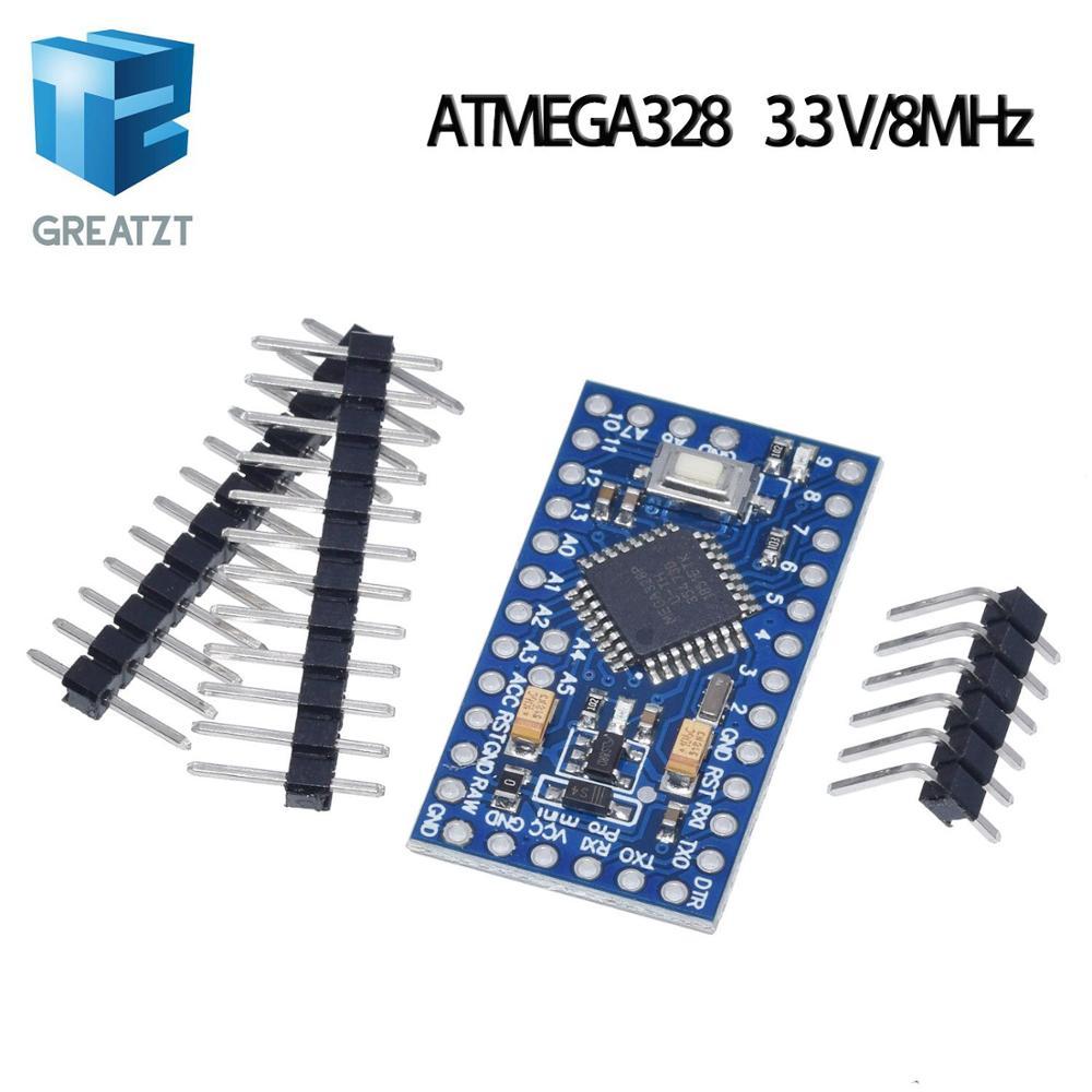 GREATZT ATMEGA328P Pro Mini 328 Mini ATMEGA328 5V/16MHz ATMEGA328 3.3V 8MHz For Arduino