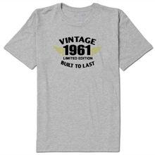 aa5669b55 Presente De Aniversário dos homens Camiseta Cinza-Built to last Nascido em  60 50 40 30 s s s s 70 s 80 s Confortável camisa de t.