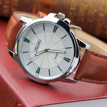 Mens Watches Top Brand Luxury Leather Watch Men's Wristwatches Clock Sun texture Watch Men Business Watch Relogio Masculino Hot