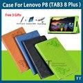 """Высокое Качество Tablet PC случае Для Lenovo P8 (TAB3 8 Плюс) 8.0 """"TB-8703F TB-8703N Флип Тонкий PU Кожаный чехол обложка + 3 подарки"""
