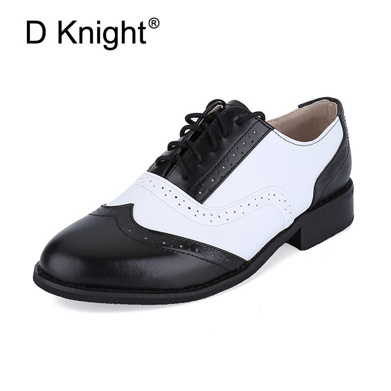 47 Styles Ladies Casual Flat Brogues Shoes Fashion Genuine Leather Women Flats Size 32-45 Women's Shoe New England Women Oxfords 2017 new handmade women flats genuine leather oxfords shoes woman fashion ballets flats casual moccasins for women sapatos mujer