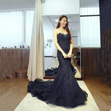 Vinca Sunny Real Photo Luxurious Off The Shoulder prom dress 2019 Lace applique Party Gowns Custom Made